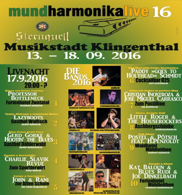 Mundharmonika-festival Klingenthal 2016